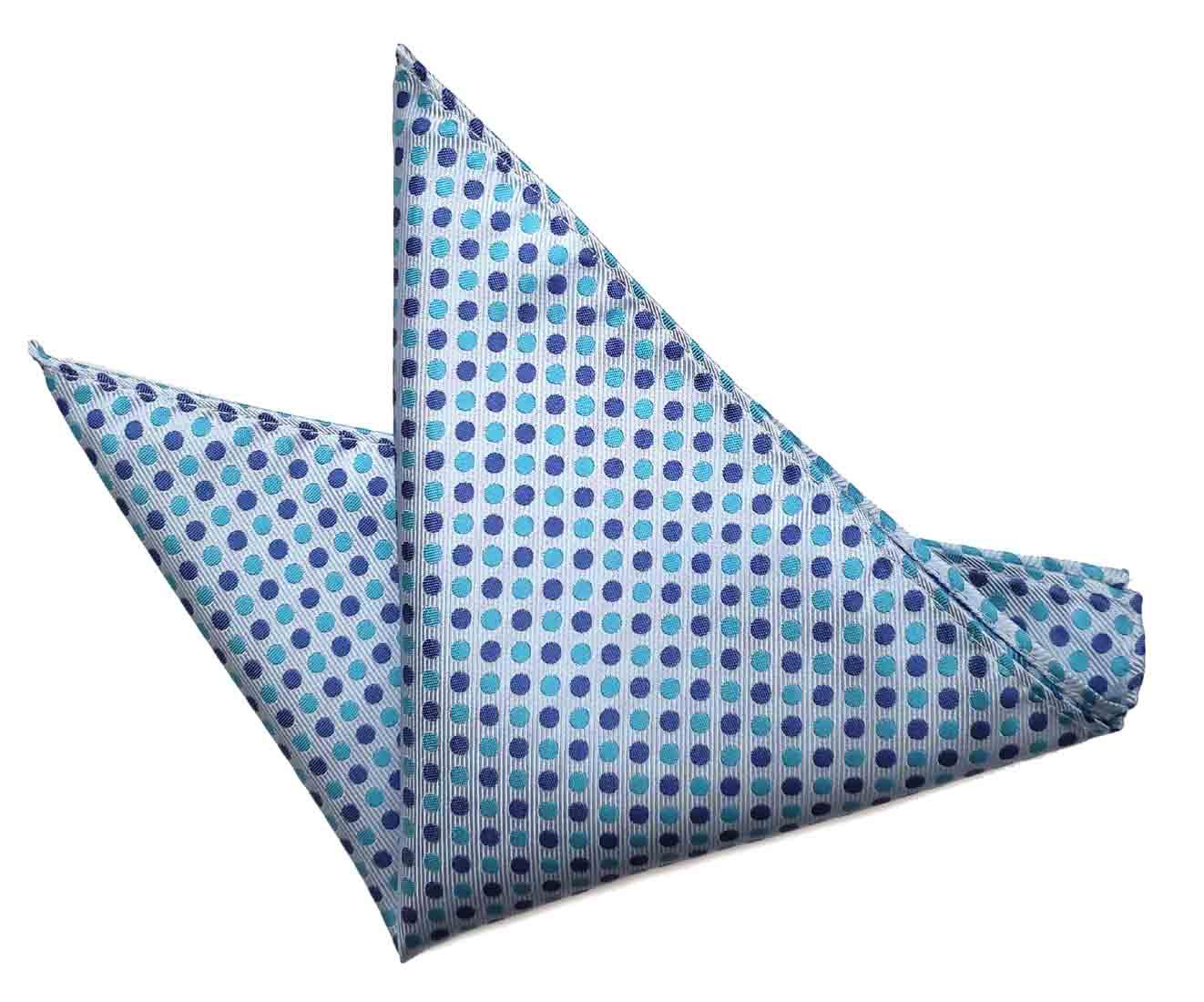 ekSel Pocket Square Blue Purple Polka Dot Men's