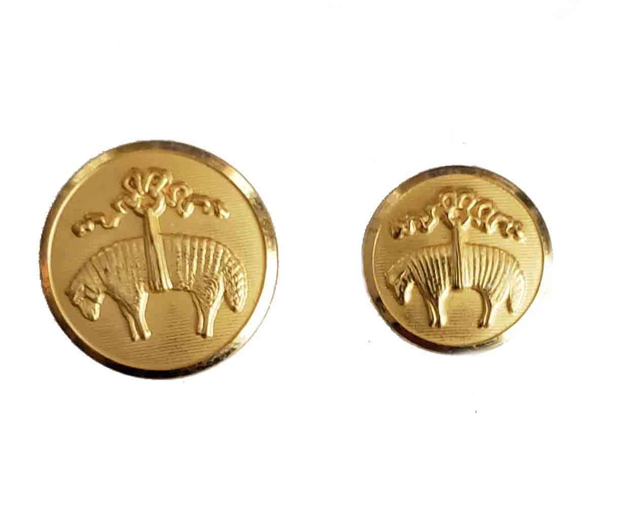Brooks Brothers by Waterbury Spare Replacement Blazer Buttons Gold Brass Golden Fleece Men's
