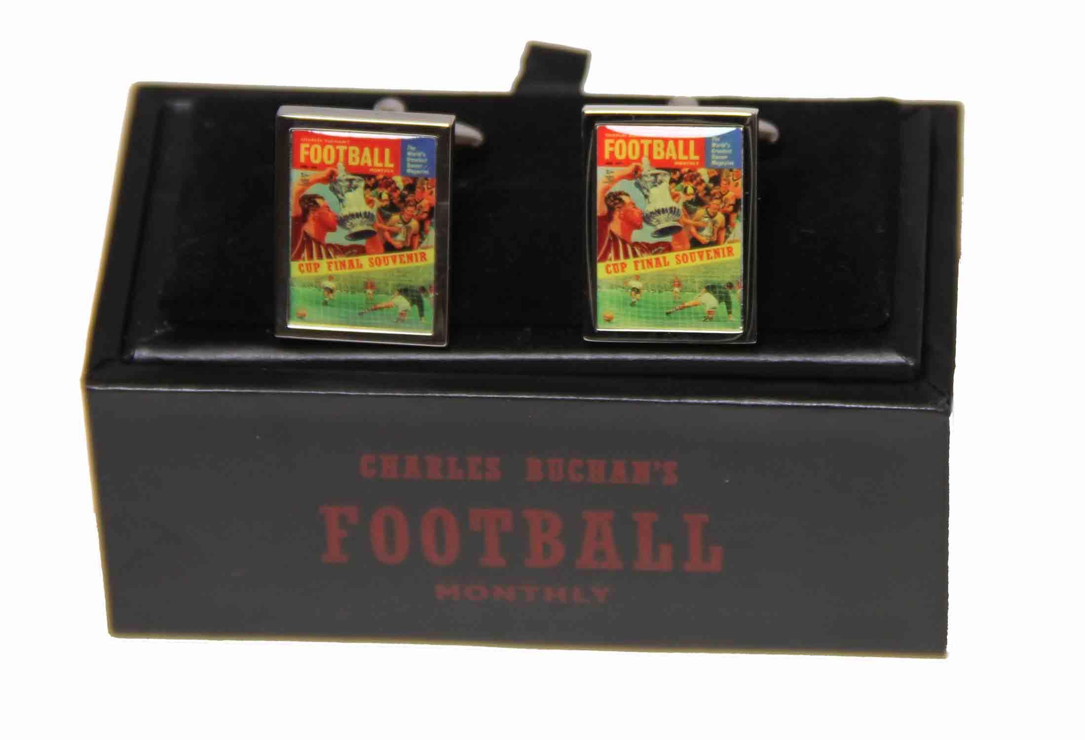 World Cup British Soccer Cufflinks Charles Buchan's Football Monthly Men's