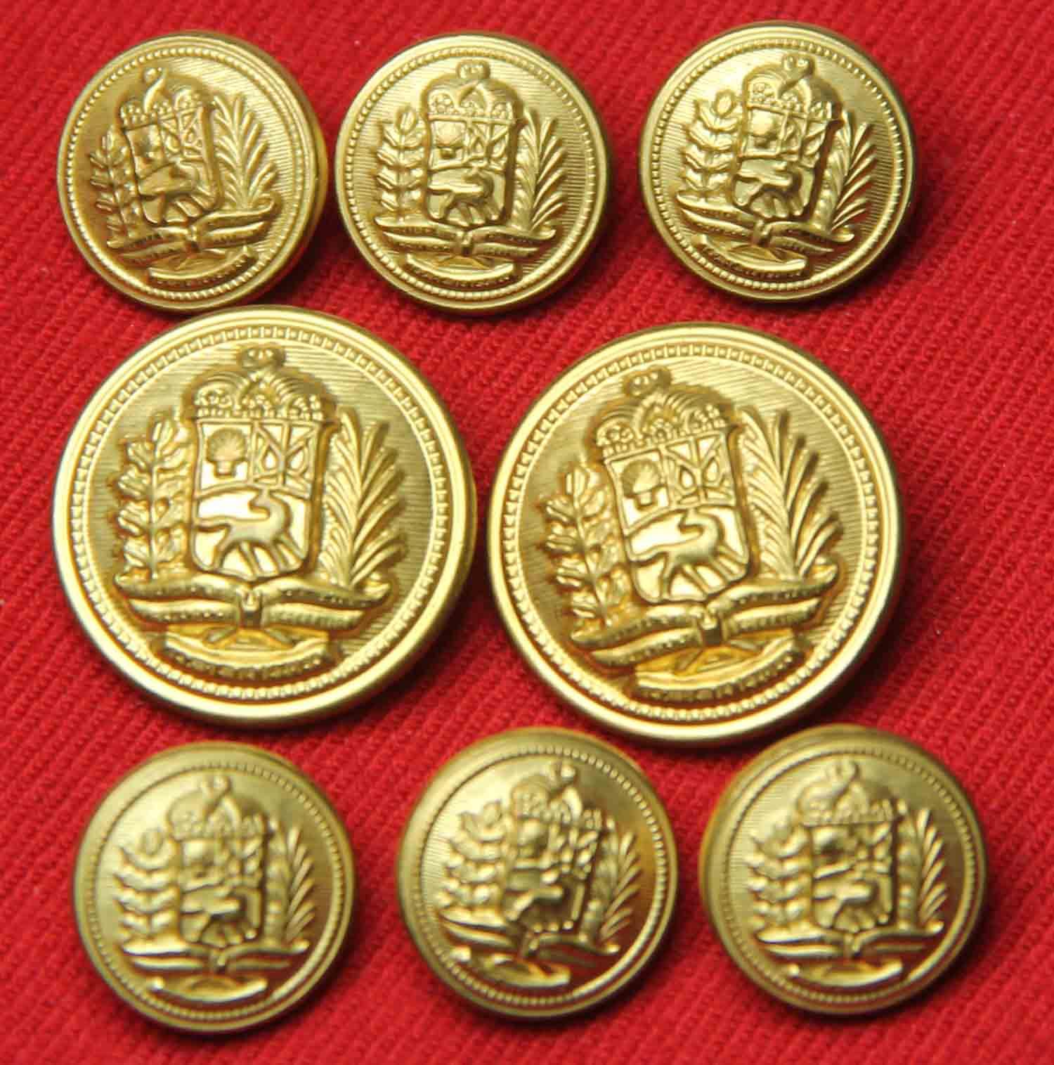 Vintage Excelsior Blazer Buttons Set 1980s Gold Brass Shank Men's