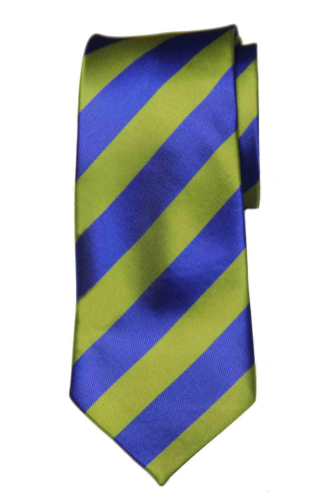 Gascoigne Repp Stripe Tie Silk Handmade Yellow-Green Blue Men's