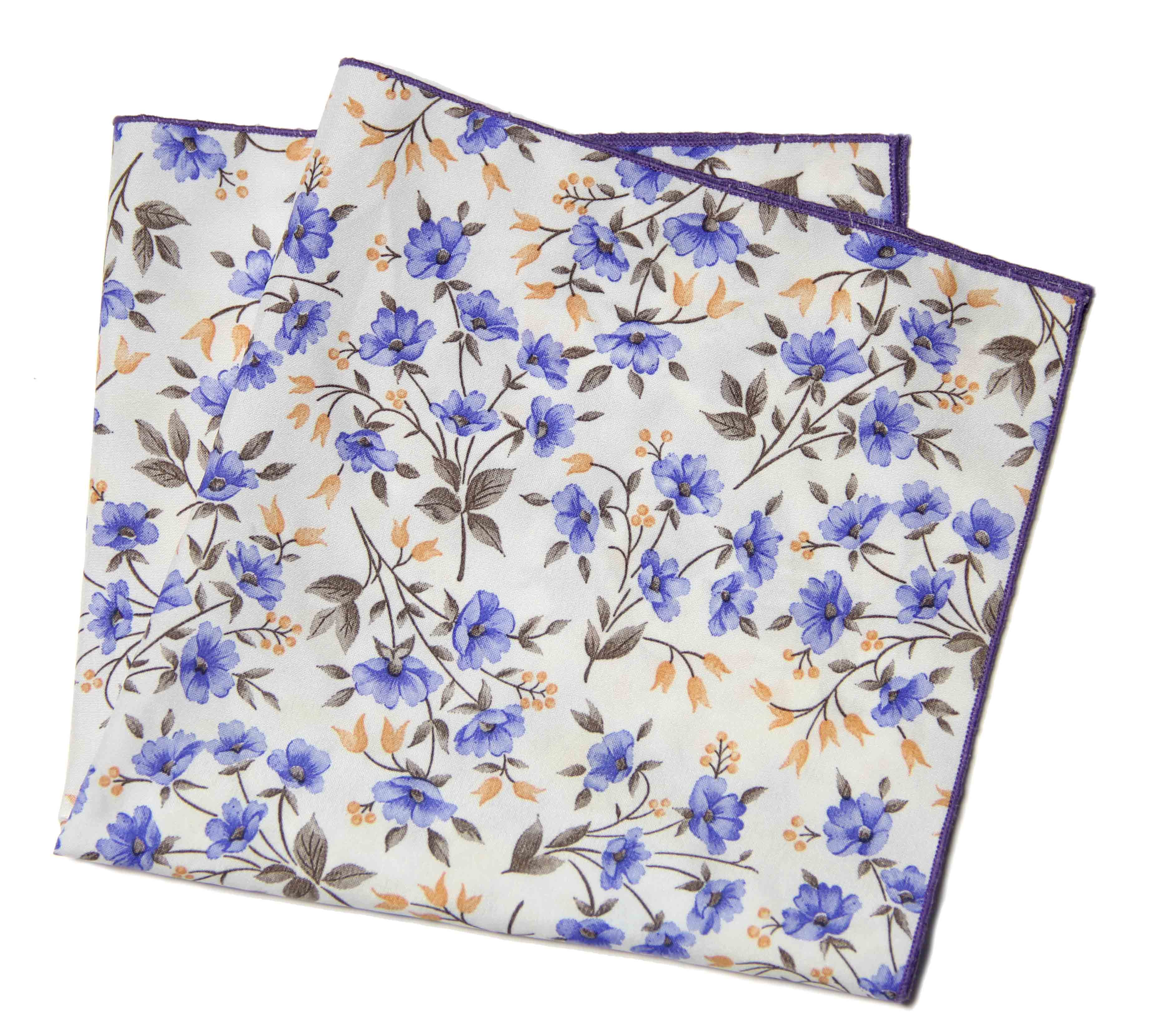 Gascoigne Pocket Square Floral Large 17 inches X 17 inches Men's