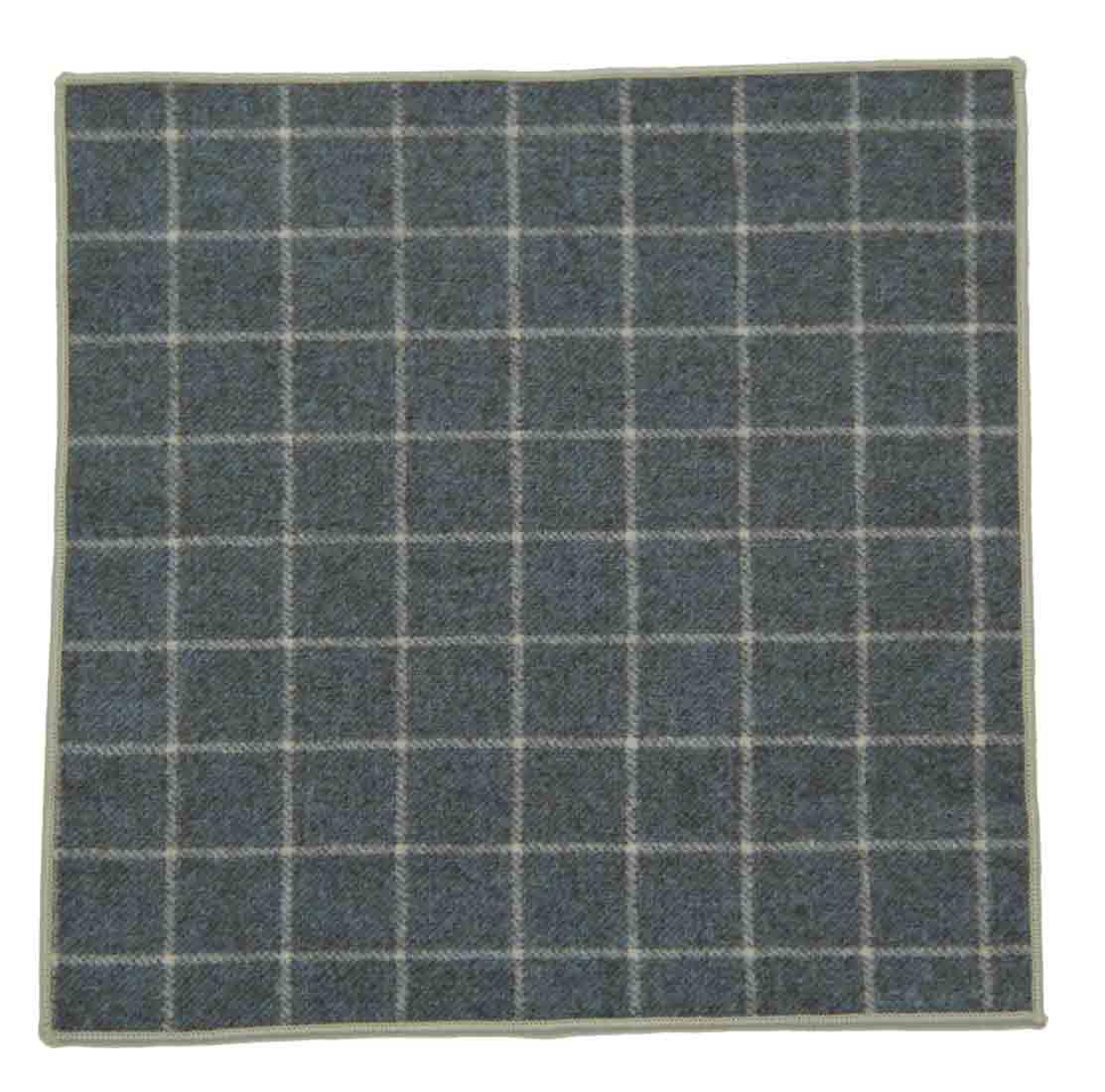 Gascoigne Wool Pocket Square Green Window Pane Check Pattern Men's