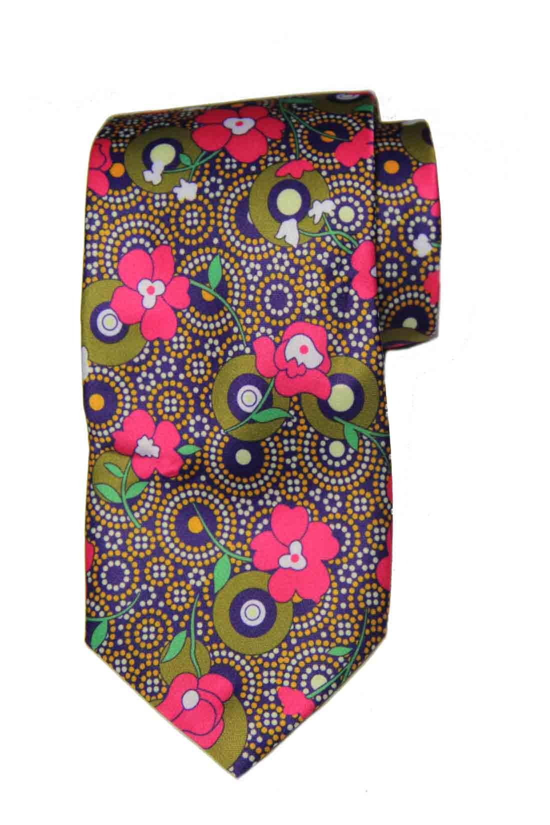 Hi-Tie for Gascoigne Silk Tie Floral Men's Long