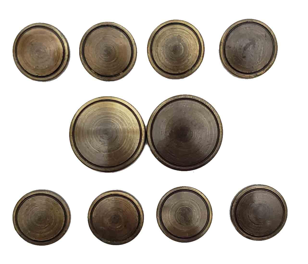 Vintage Jos A Bank Blazer Buttons Set Antique Gold Brass Shank Men's
