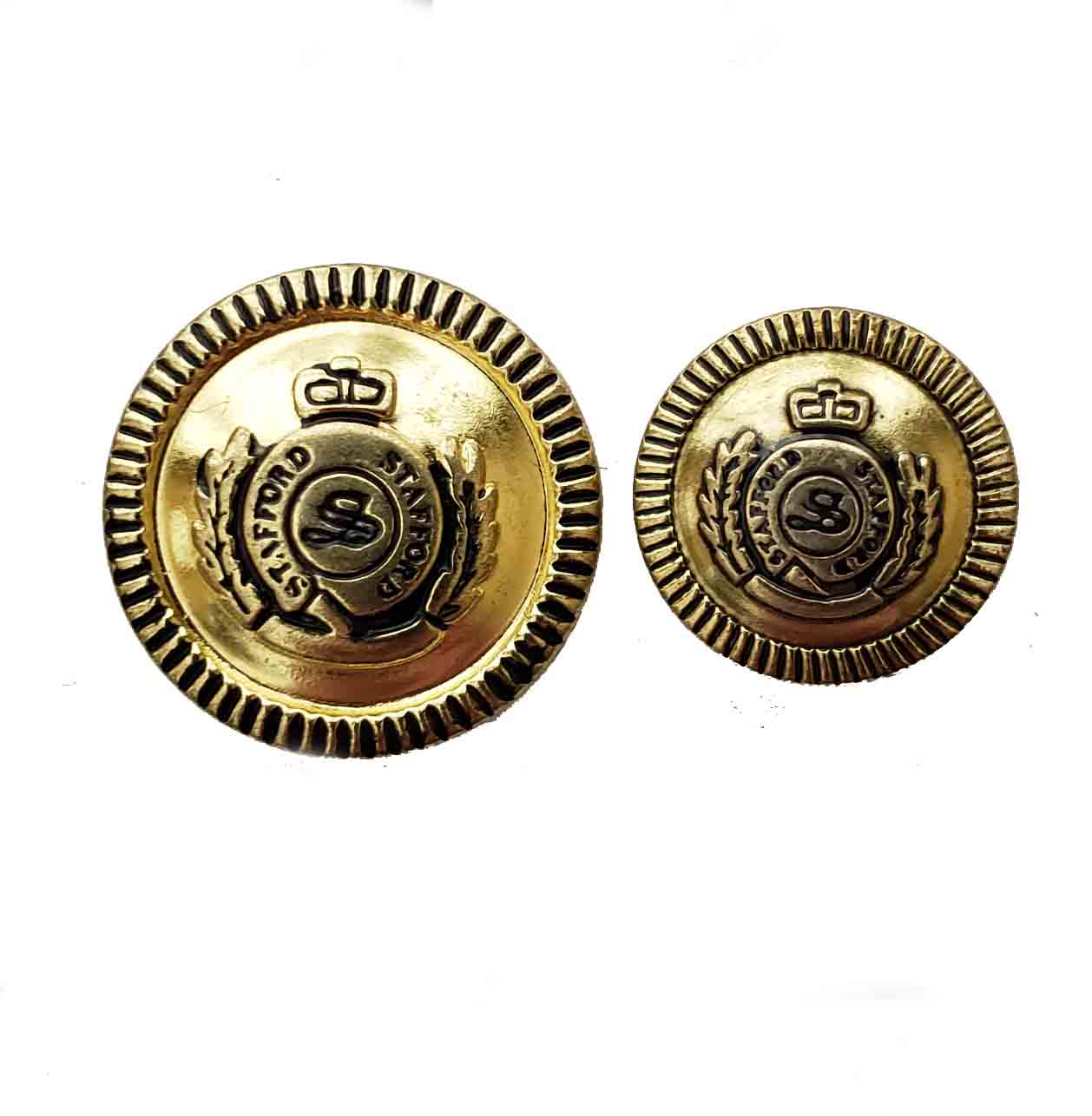 Two New Stafford Replacement Blazer Buttons Gold Brass S Monogram Men's