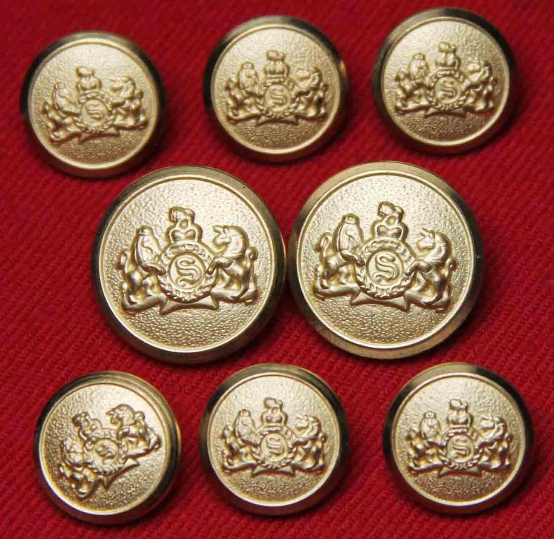 Vintage Stafford by Waterbury Blazer Buttons Gold Brass Shank Men's
