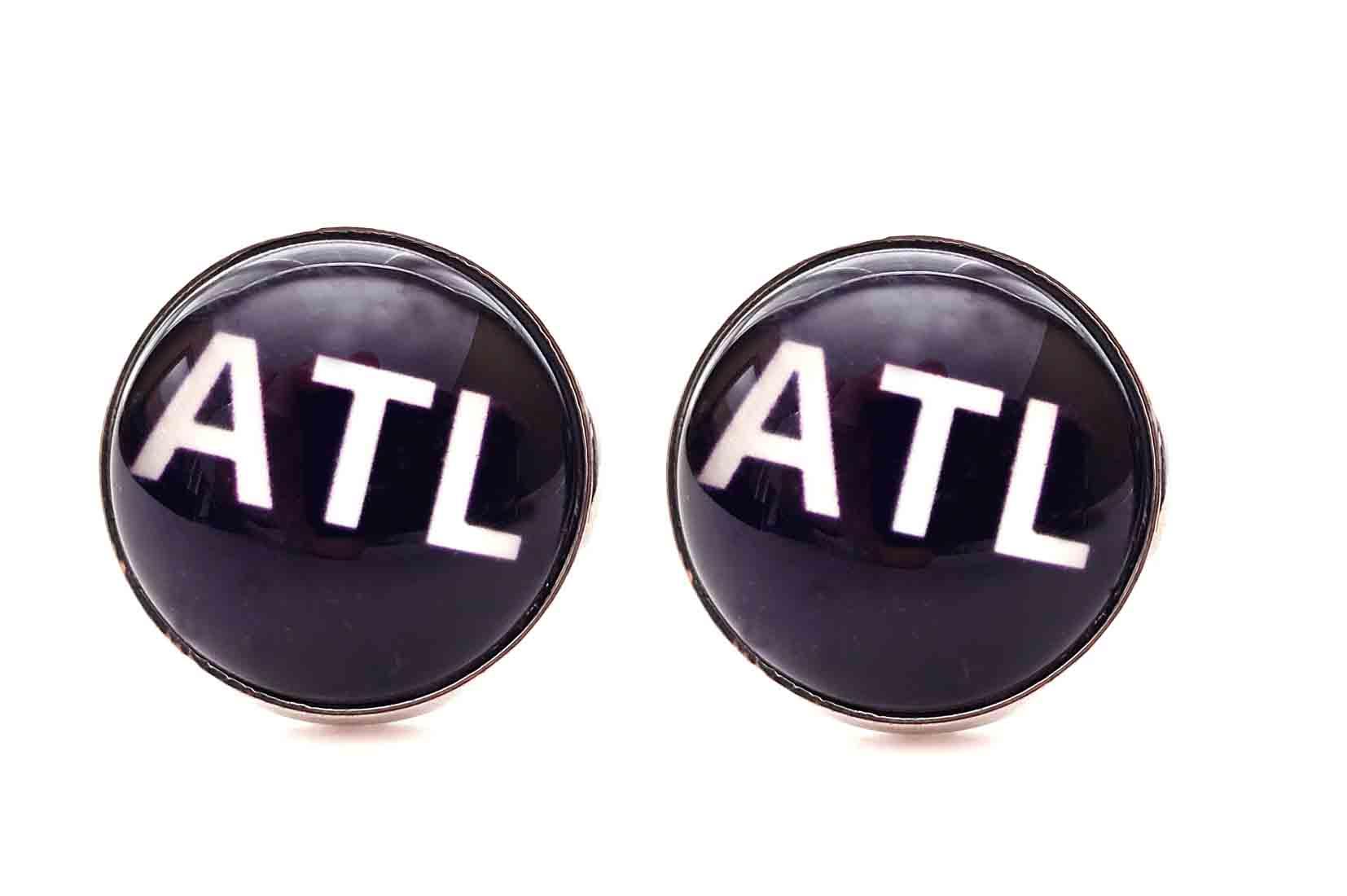 Gascoigne ATL Cufflinks Silver Purple White Atlanta Men's