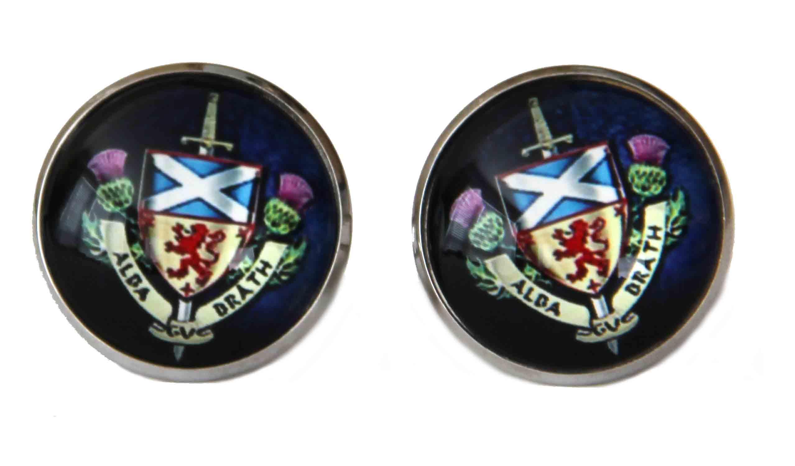 Gascoigne Scotland Forever Cufflinks Alba Brath Men's