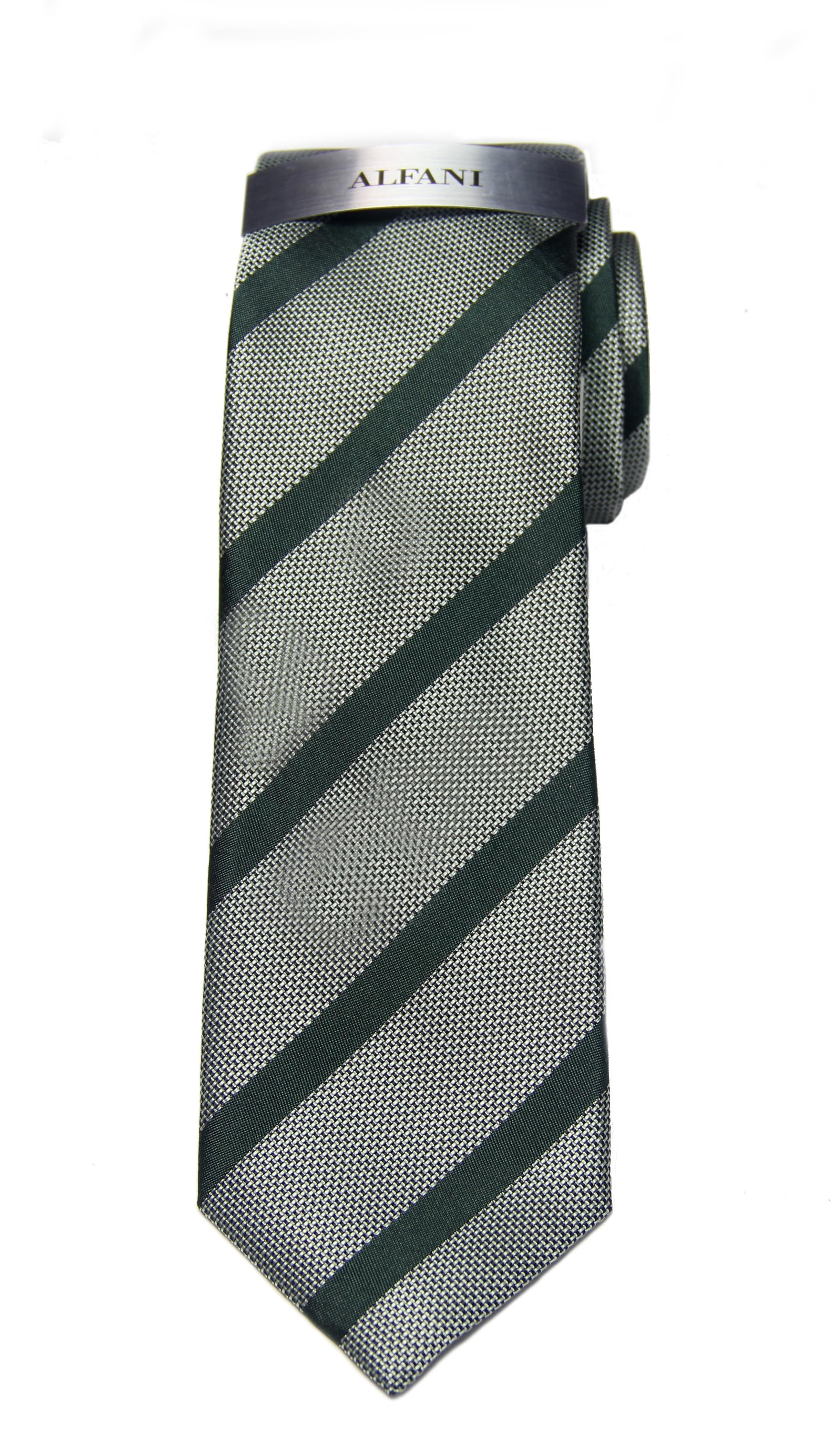 Alfani Hawks Stripe Tie Green Striped Narrow Men's