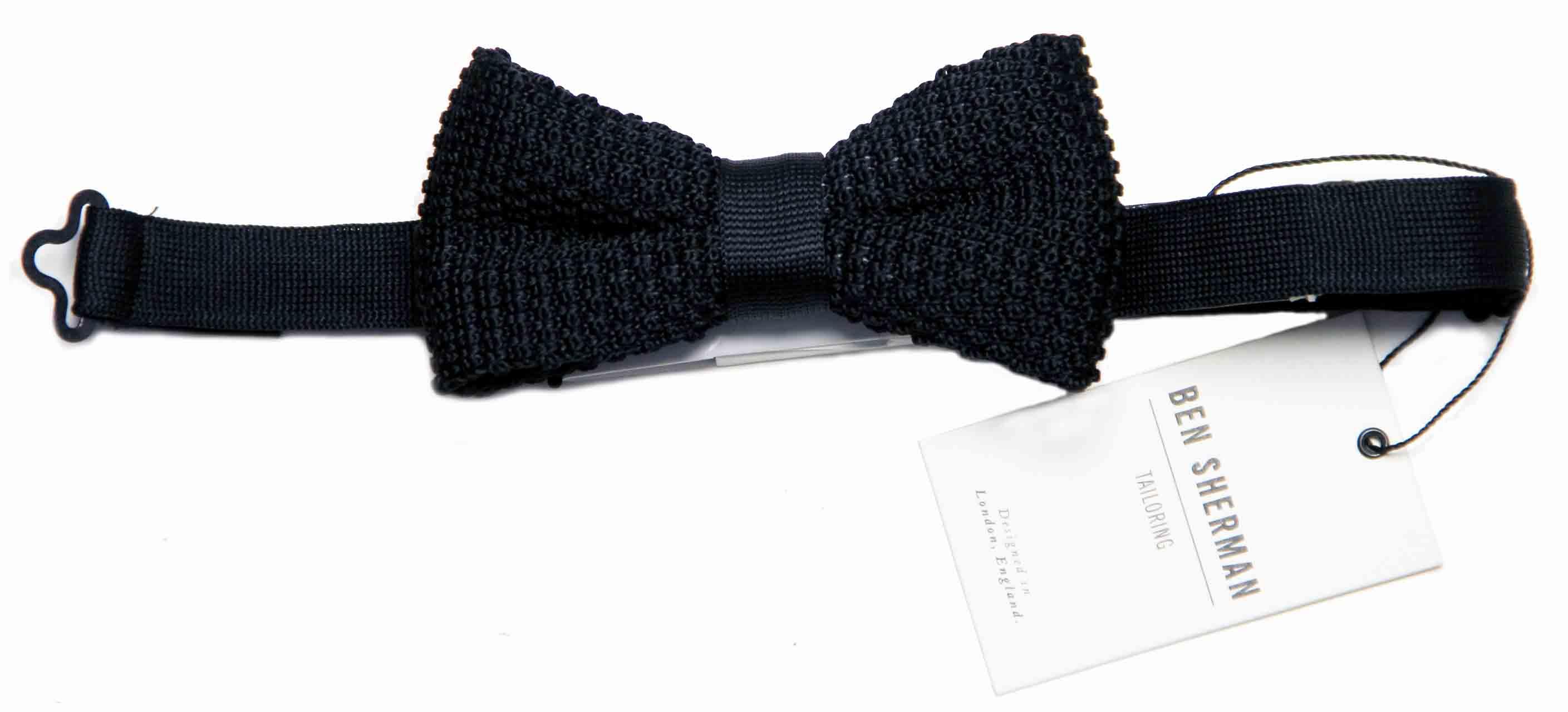 Ben Sherman Bow Tie Black Knit Men's OS