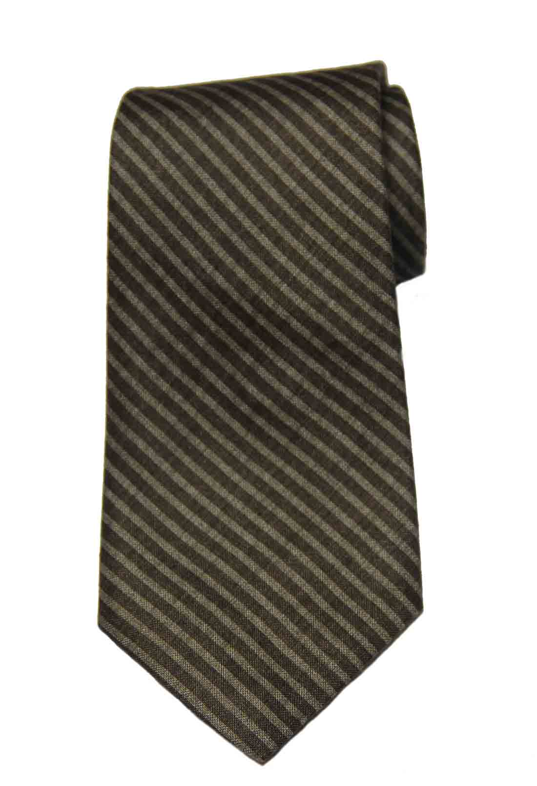 Brooks Brothers Brown Striped Tie Silk Men's