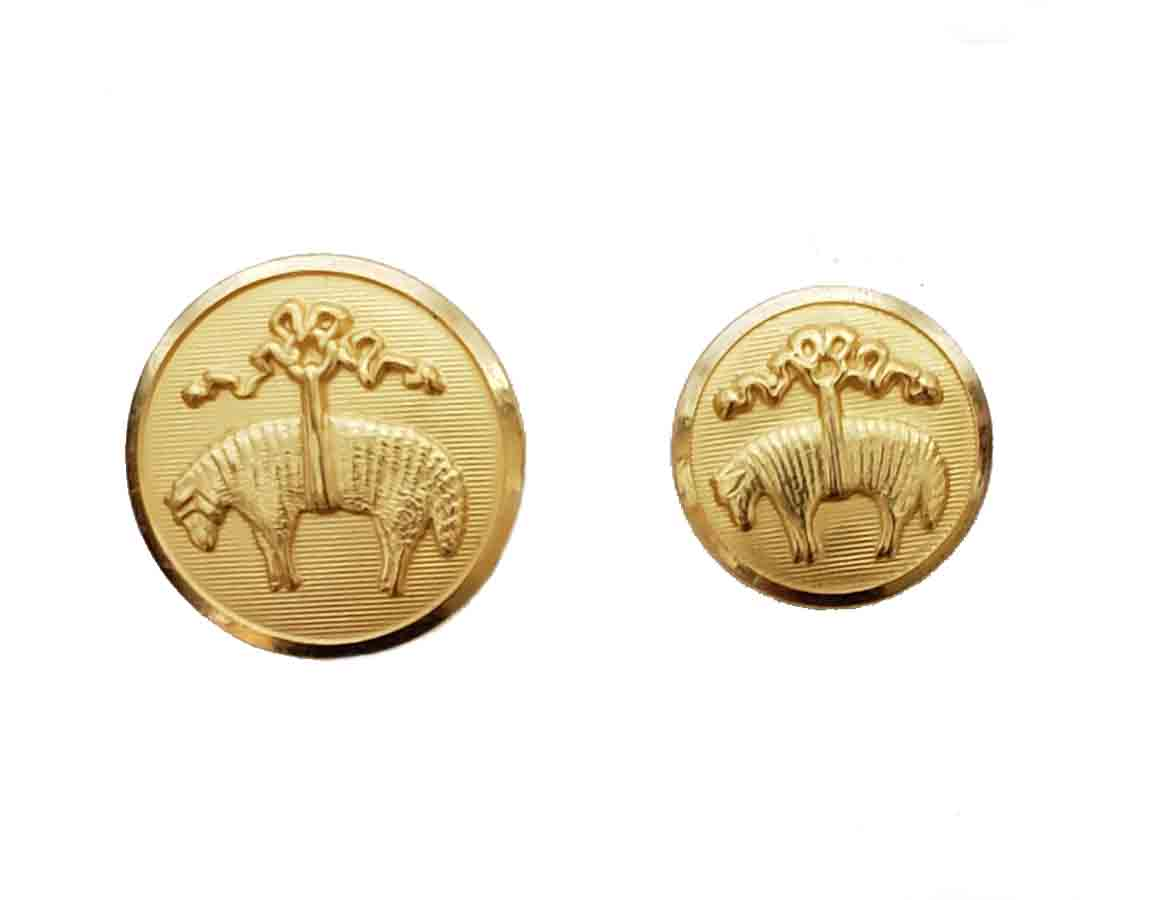 Two Brooks Brothers Blazer by Waterbury Replacement Buttons Golden Fleece Gold Brass Shank Men's