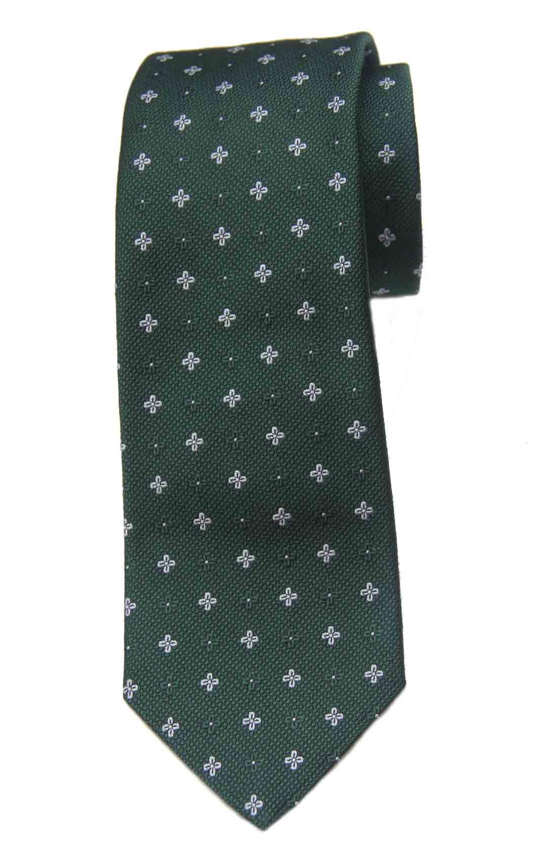 Brooks Brothers Silk Tie Green White Men's