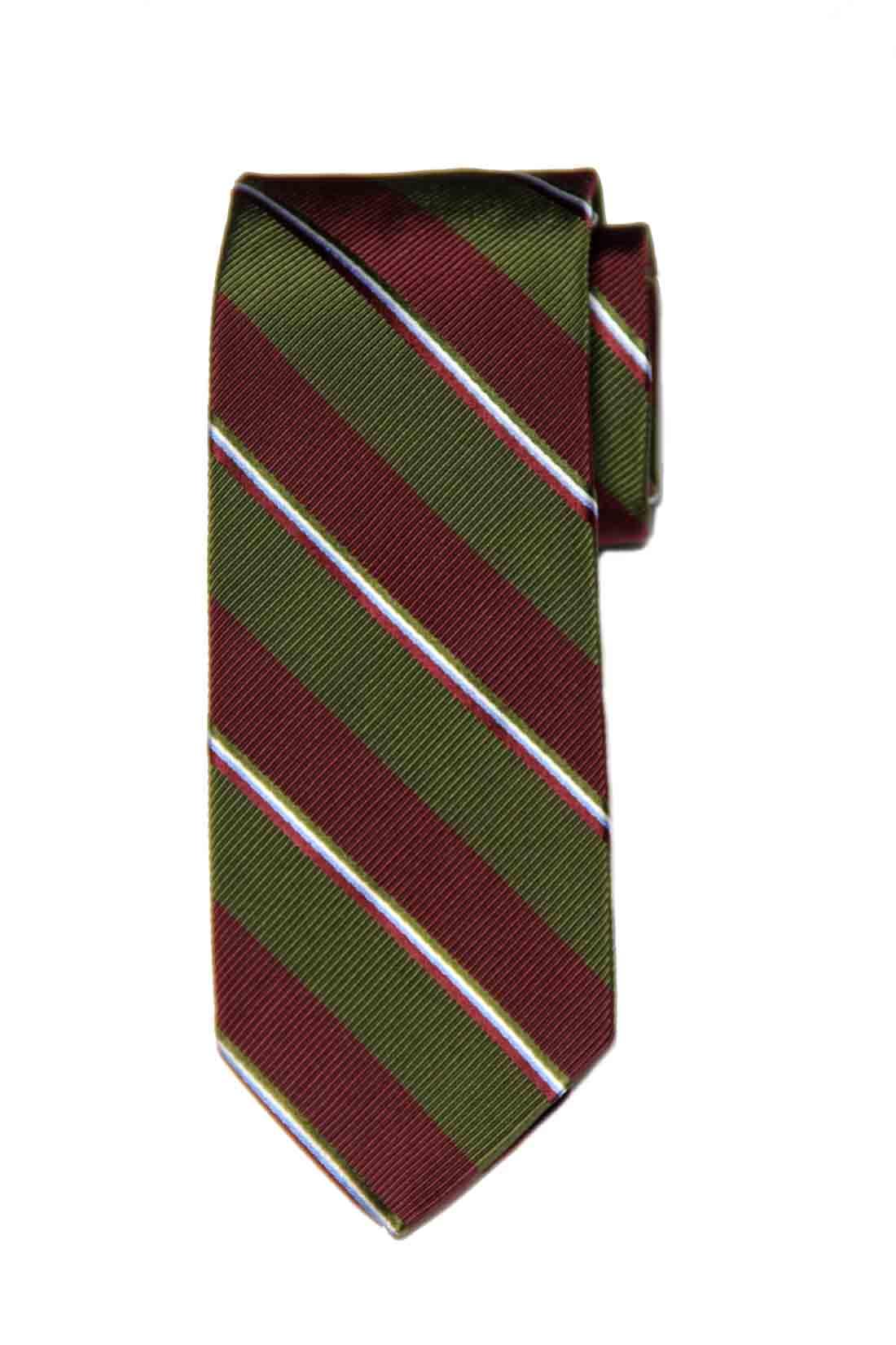 Brooks Brothers Silk Tie Green Burgundy Blue White Striped Men's