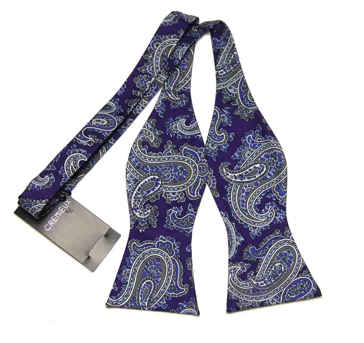 Daniel Cremieux  Bow Tie Silk Purple Paisley Men's OS