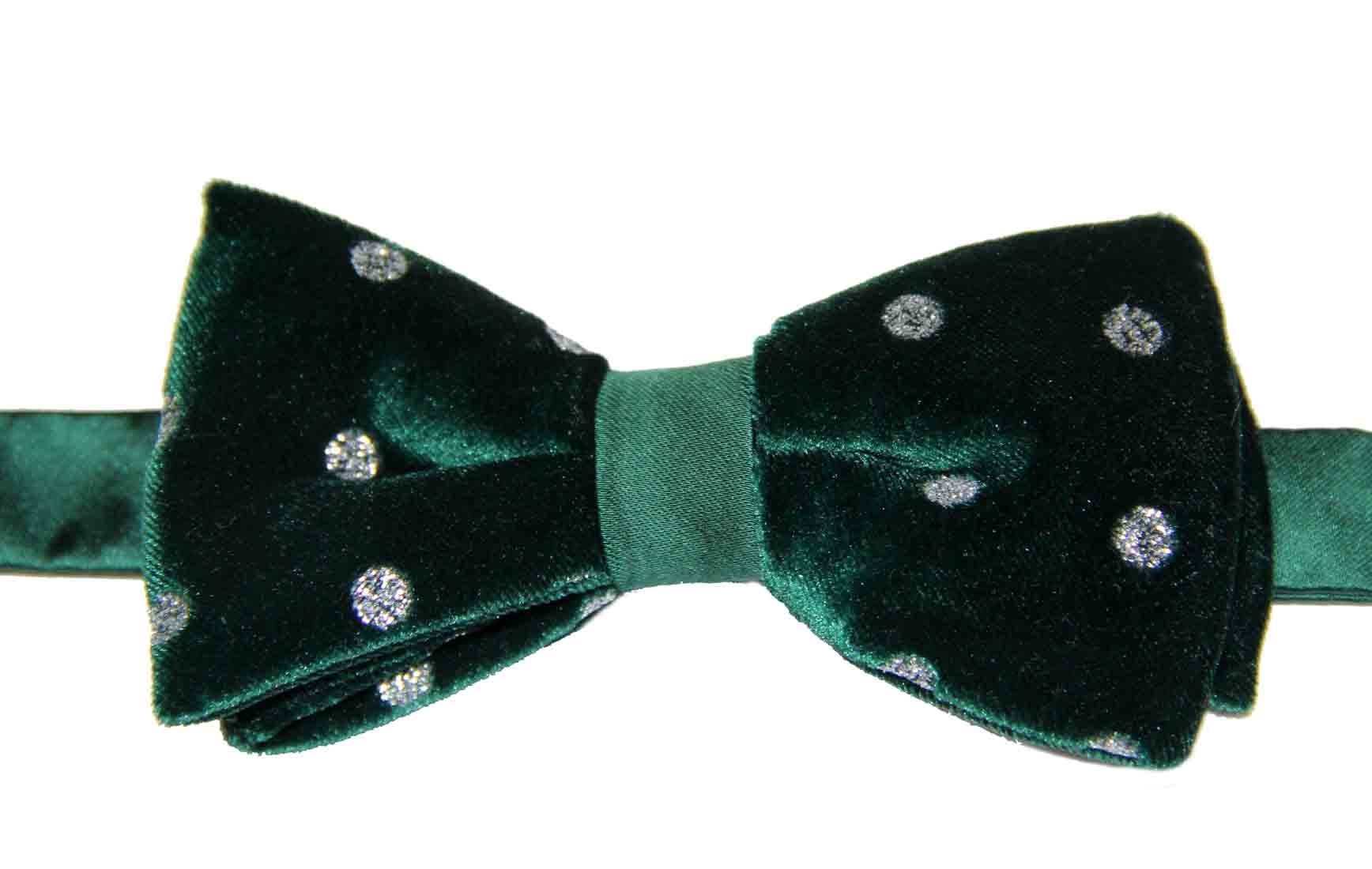Daniel Cremieux Velvet Bow Tie Green With Rhinestones Men's