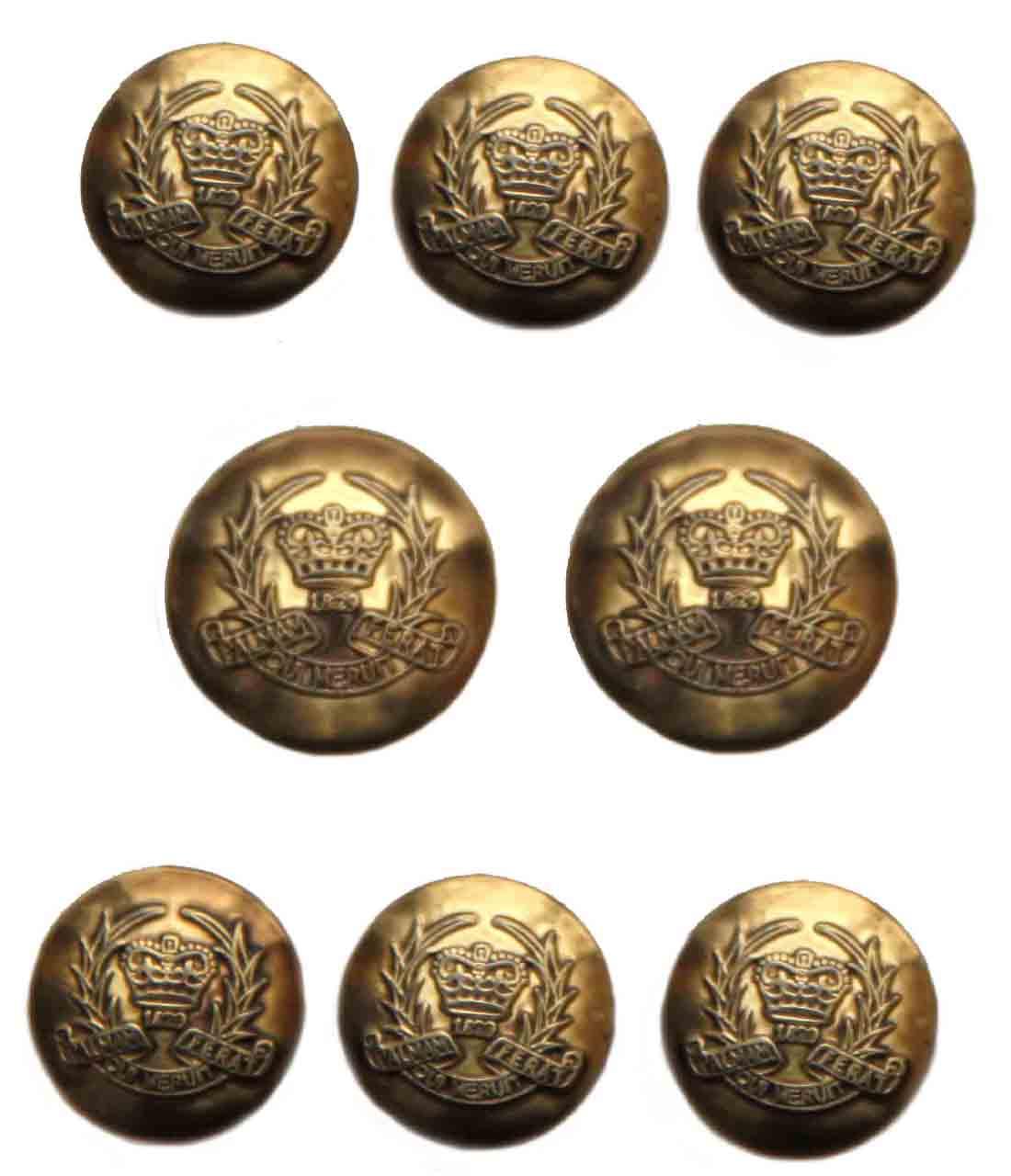 Vintage Evan Picone Blazer Buttons Set Gold Brass Shank Crown Laurel Men's