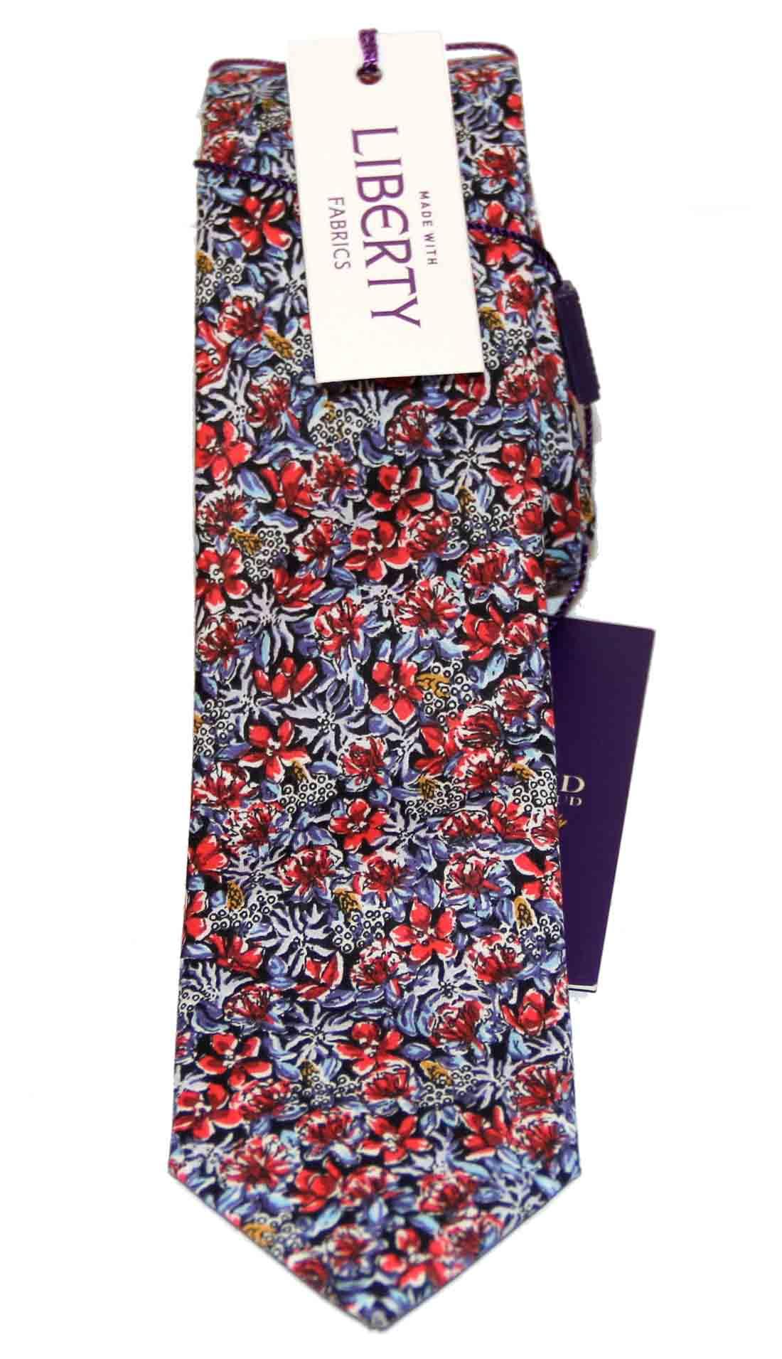 Feraud Liberty of London Fabric Cotton Tie Floral Narrow Men's