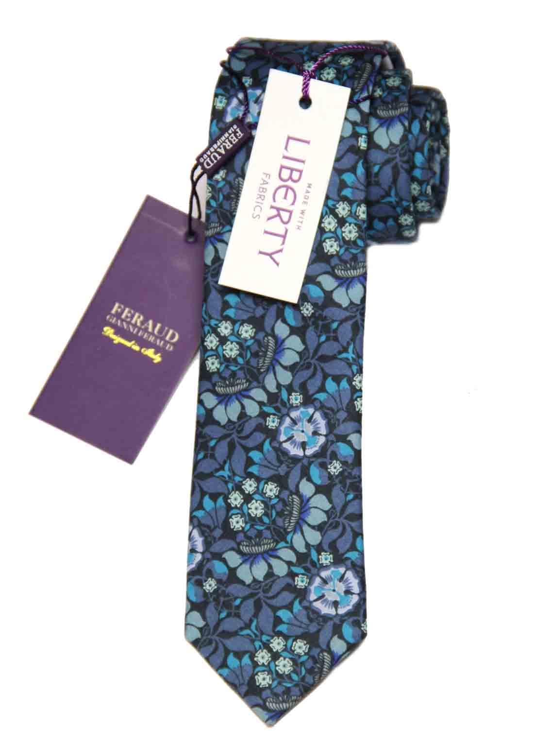 Feraud Liberty of London Fabric Tie Cotton Floral Men's Long