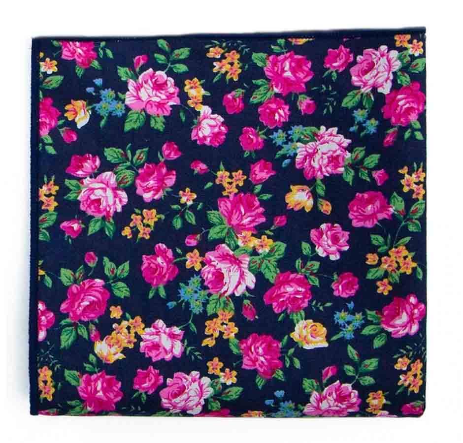 Gascoigne Pocket Square Multicolor Floral Cotton Men's