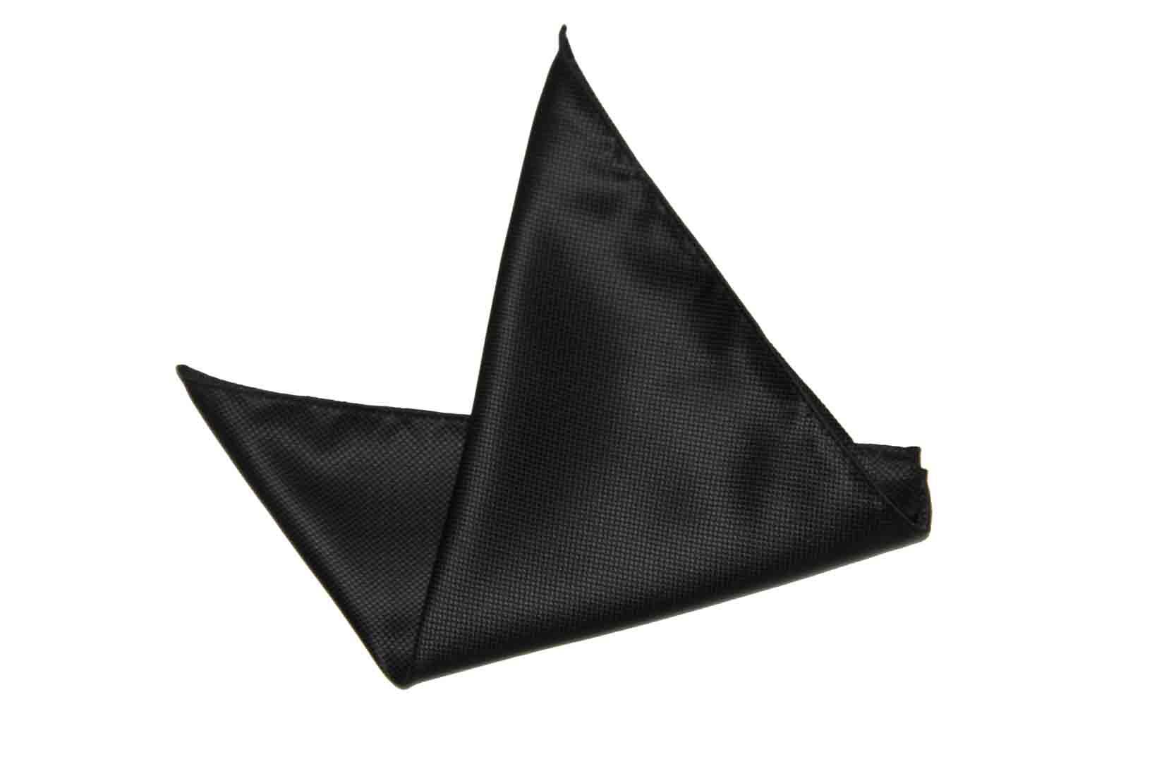 Gascoigne Pocket Square Black Silk Men's