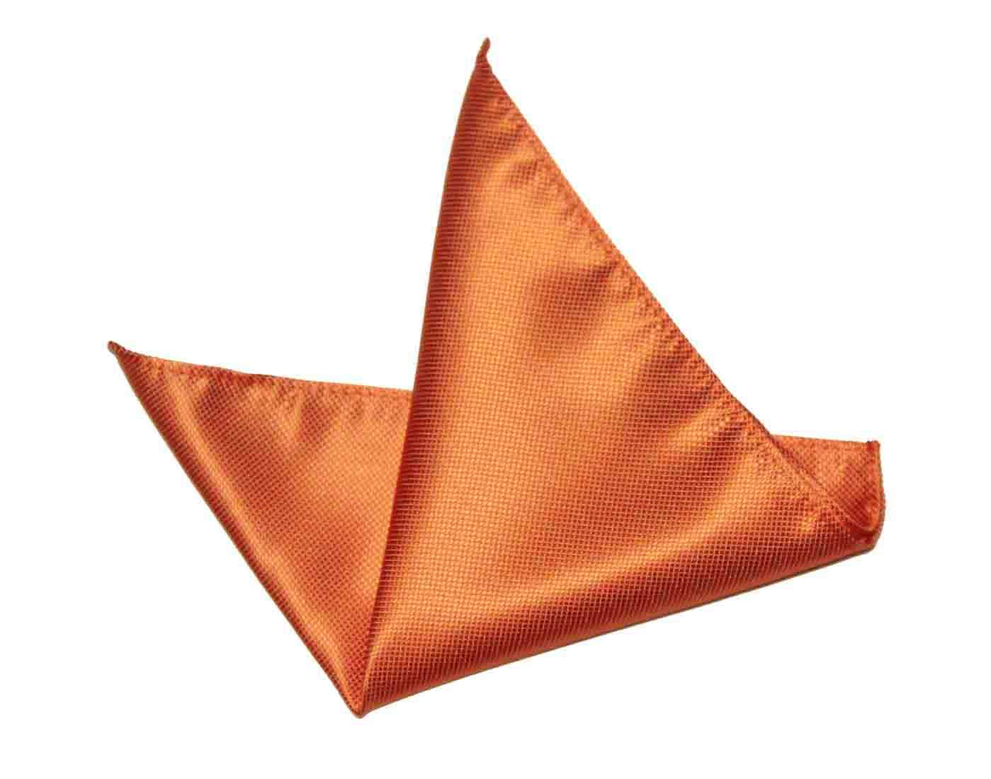 Gascoigne Pocket Square Orange Silk Men's