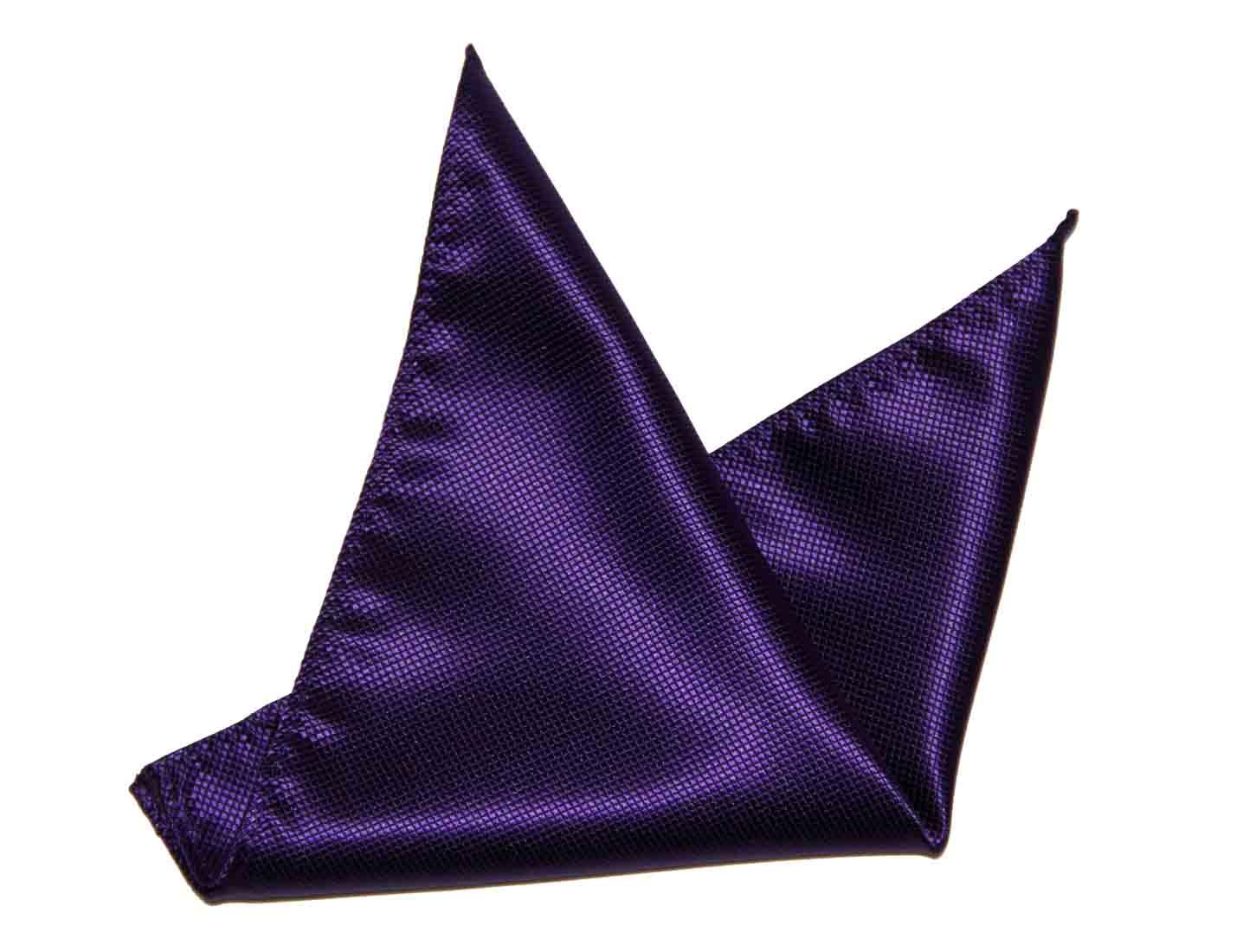 Gascoigne Pocket Square Silk Purple Men's