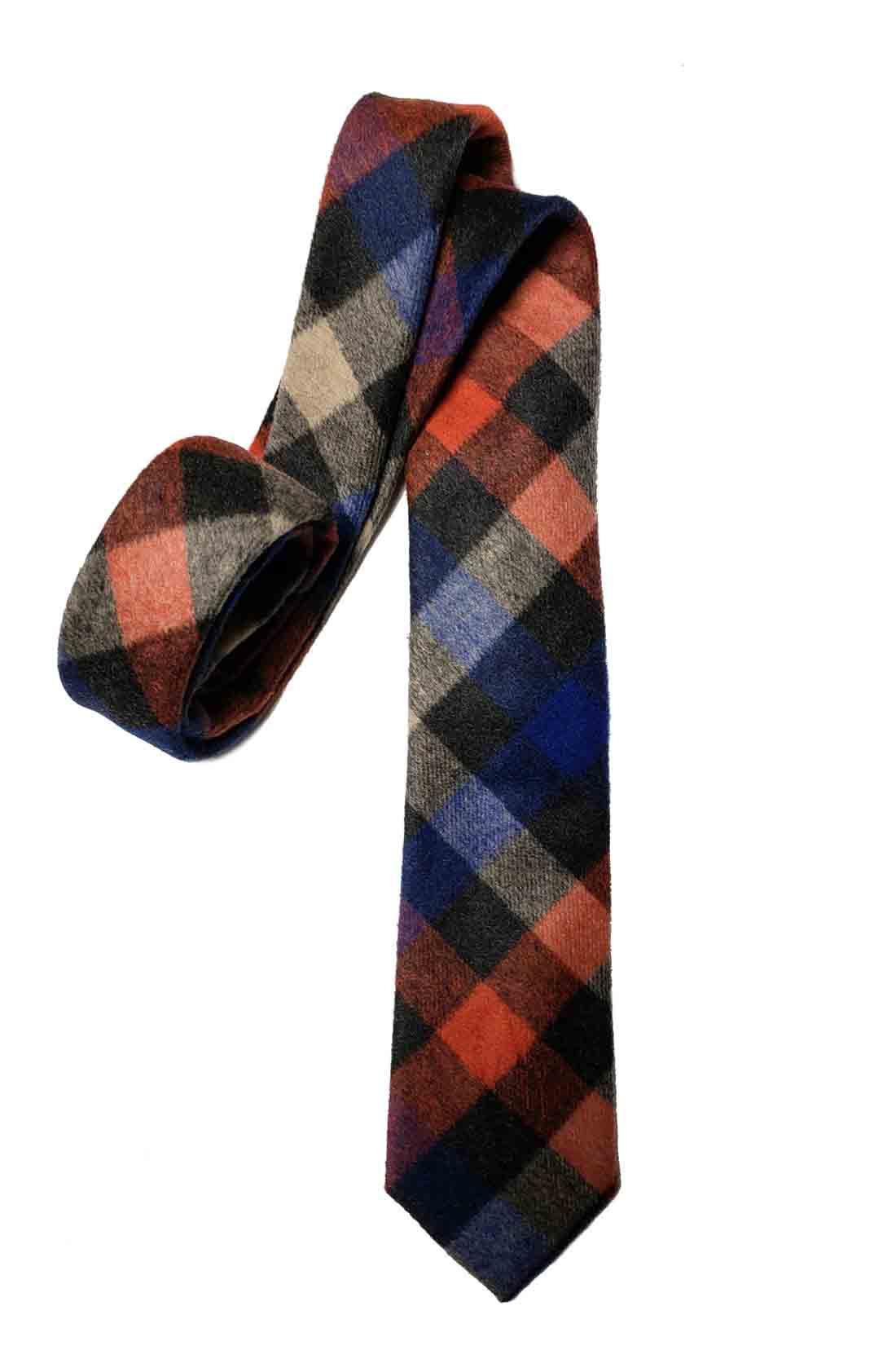 Gascoigne Tie Fall and Winter Wool Blend Geometric Multicolor Men's
