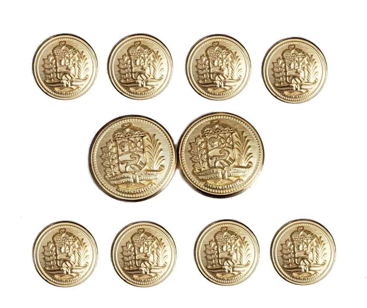 Vintage Hardwick Blazer Buttons Set Gold Brass Shank Men's