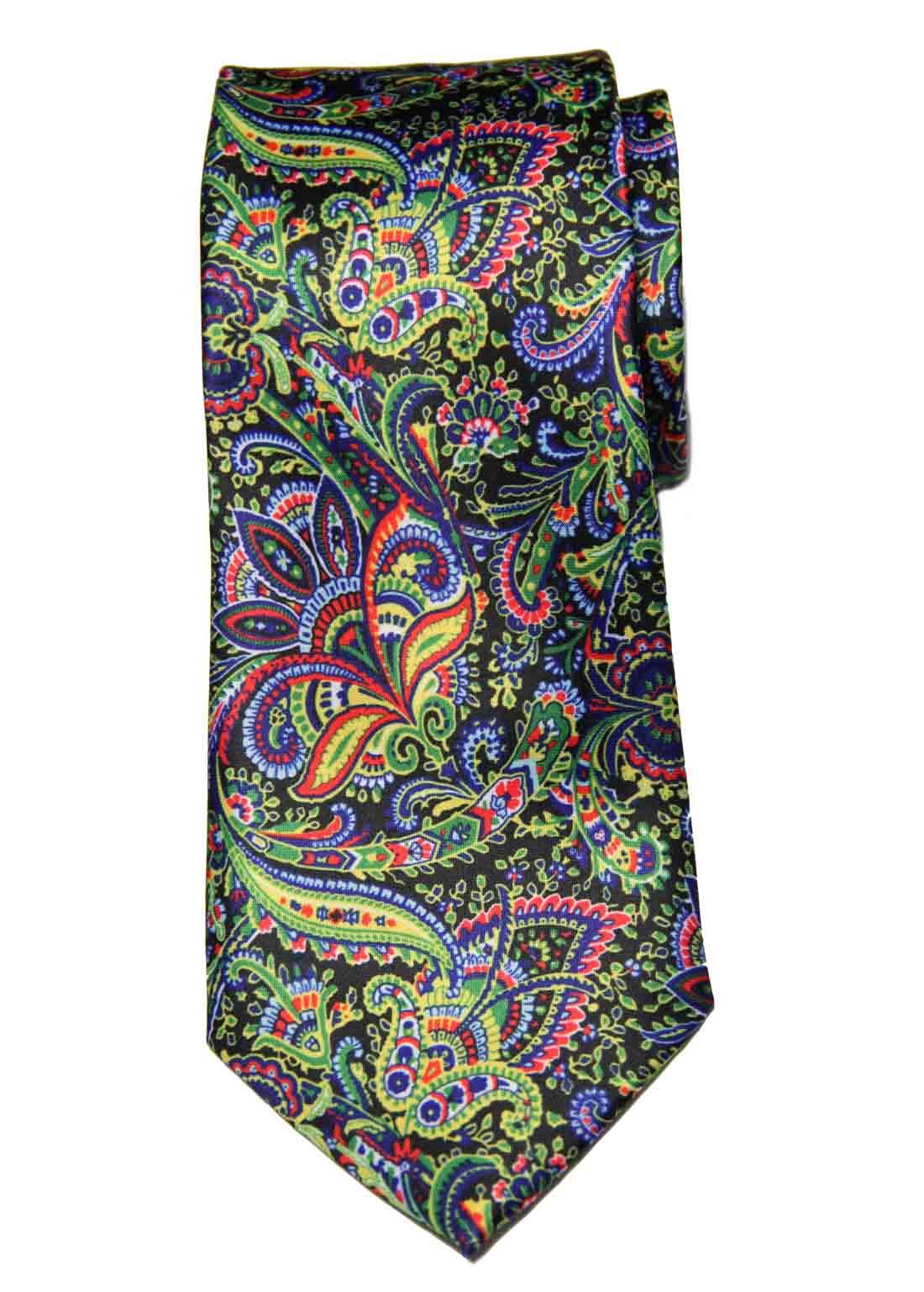 Hi-Tie for Gascoigne Silk Tie Floral Paisley Multicolor Men's Long