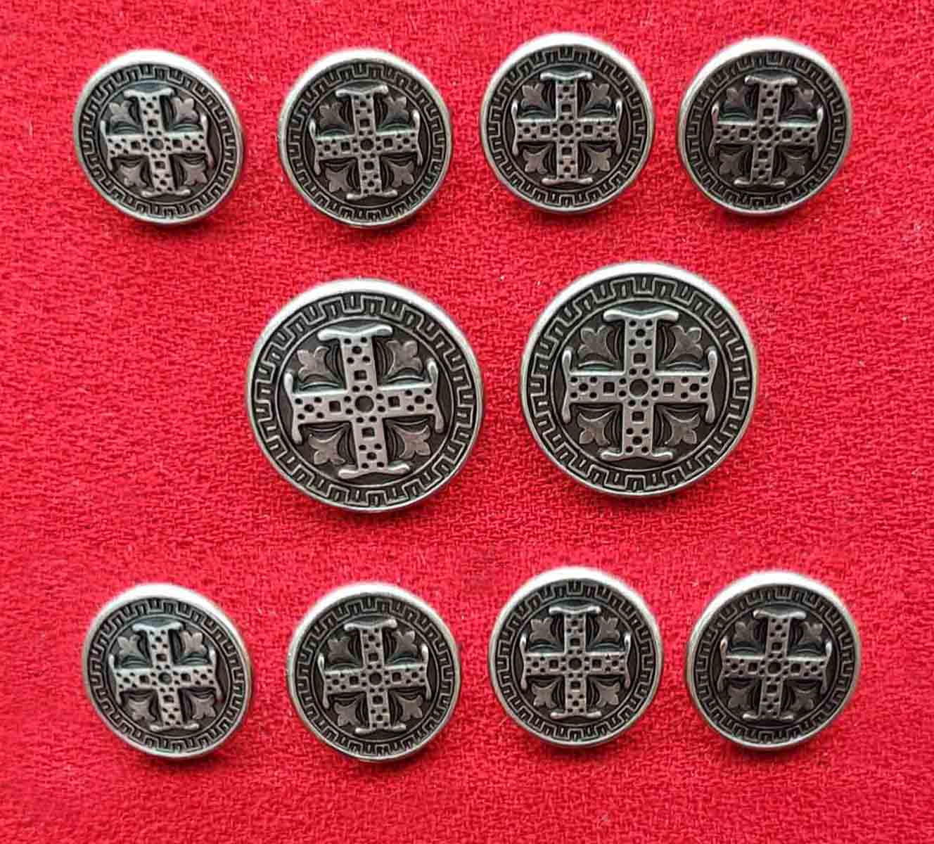 Vintage Holland and Sherry England Blazer Buttons Set Silver Gray Men's