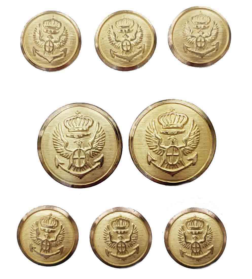 Vintage Jos A Bank Blazer Buttons Set Gold Brass Eagle Anchor Shield Shank Men's