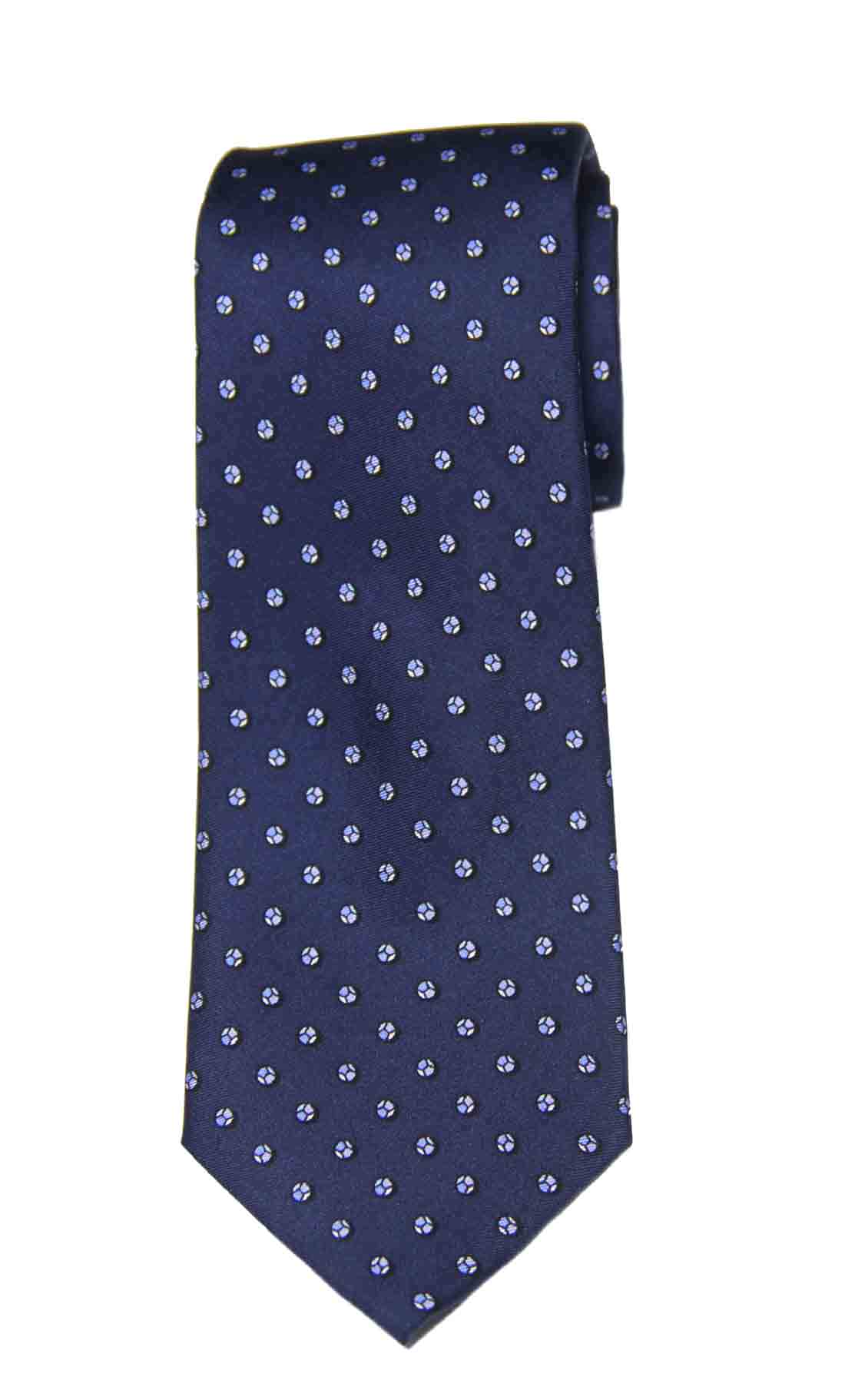 Michael Kors Silk Tie Navy Blue White Geometric Men's