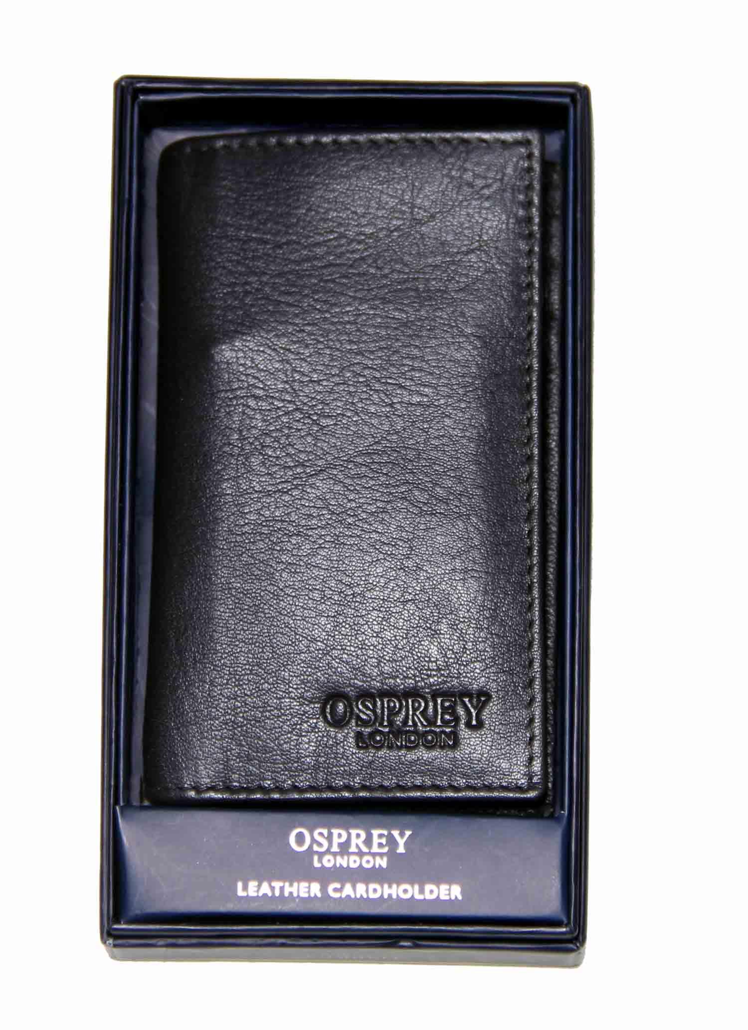 Osprey London Luxury Goat Skin Leather Wallet Black Men's