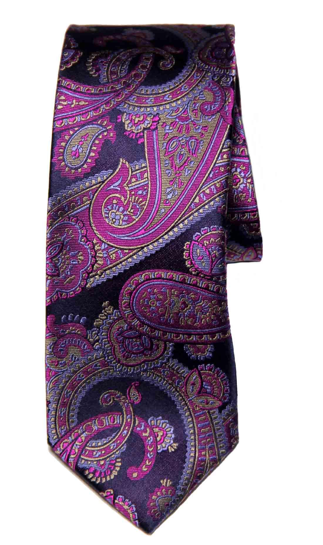 Men's Ted Baker Purple Paisley Tie Silk Men's