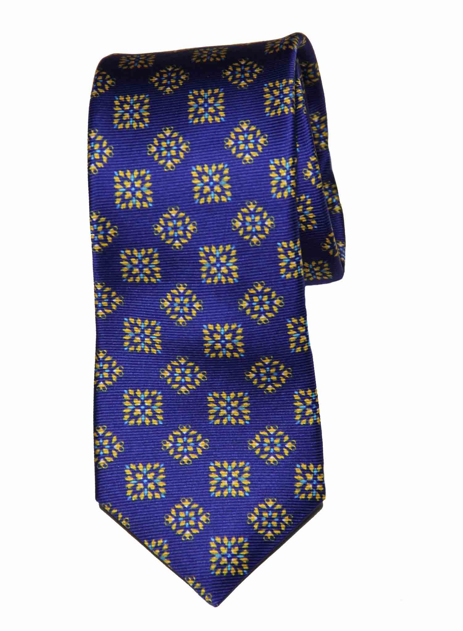 Ted Baker Silk Tie Blue Gold Men's