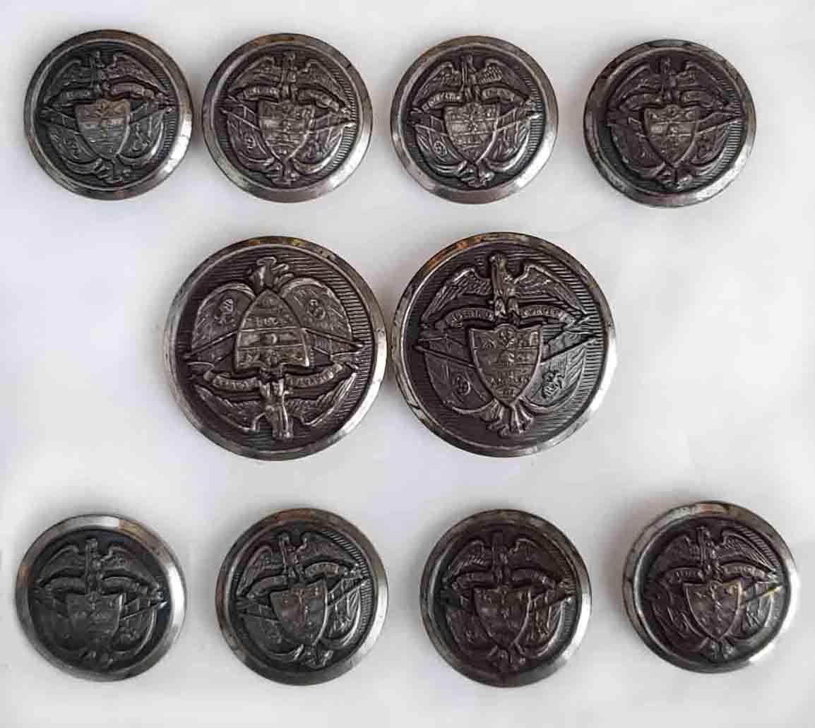 Vintage Waterbury Blazer Buttons Set Gray Shank Eagle Shield Men's